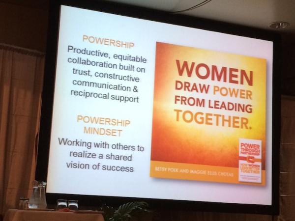 Women's Empowerment and Women's Powership slide from PNG Women's Forum 2015