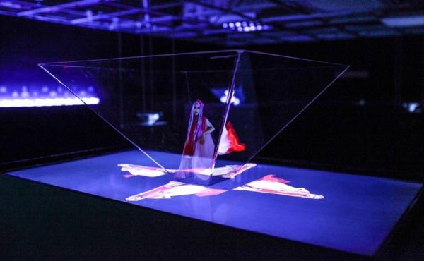 hologram installation by Genevieve Erin O'Brien