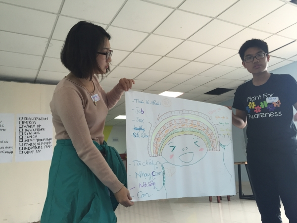 Participants talking LGBTQ issues