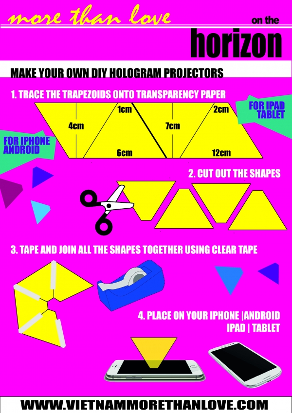 directions for making hologram