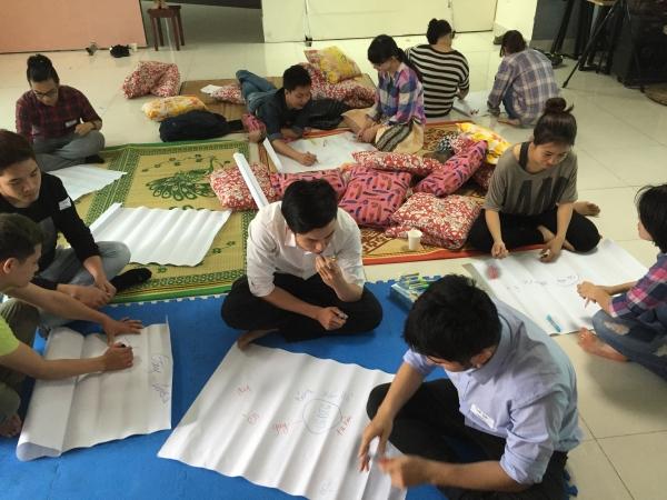Participants brainstorming