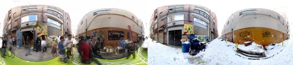 Panoramas of Pearl Street in Philadelphia, PA for Time Lens - Pearl Street imersive app