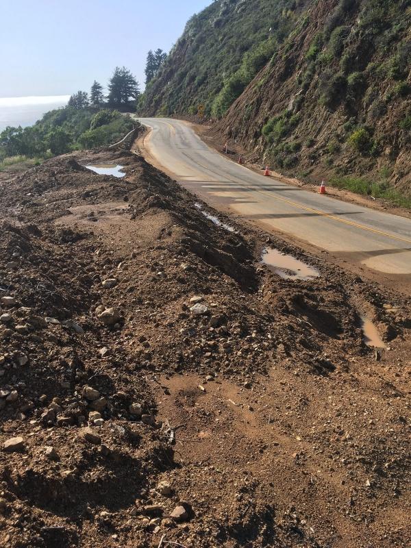 Big Sur Landslide cleanup