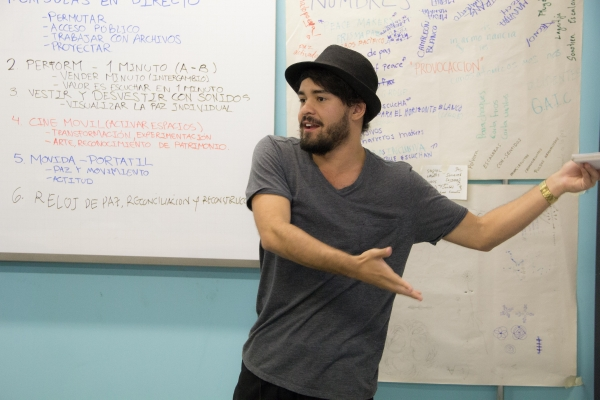 Camilo workshoping social inclusion